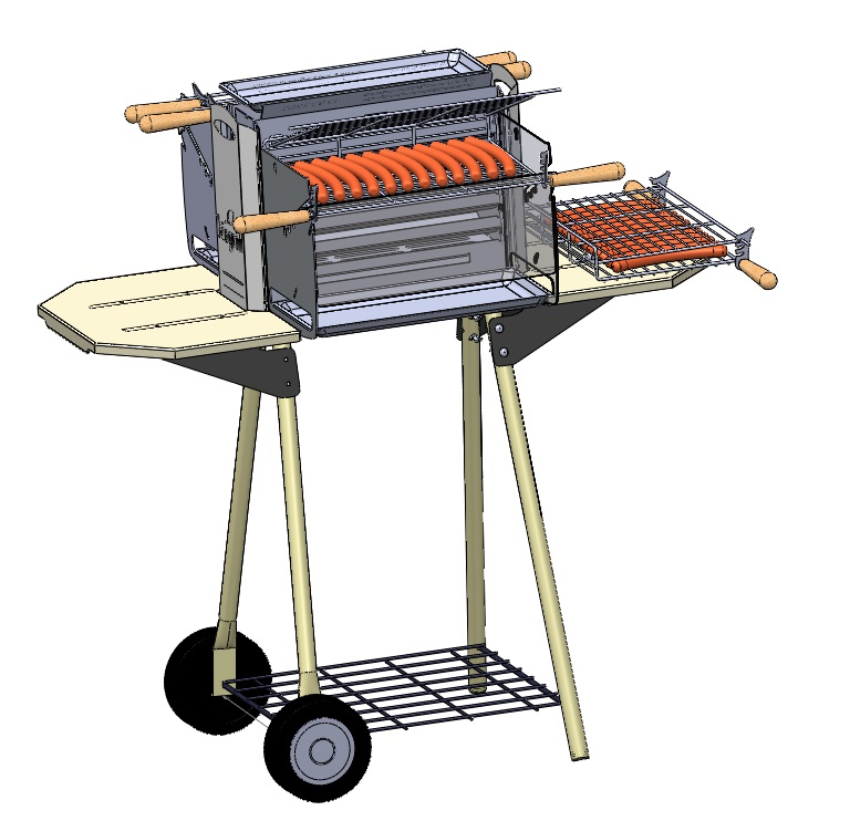 barbecue vertical biogrill